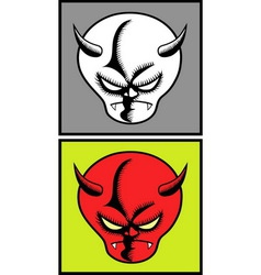 Devil halloween mask 5 vector image vector image