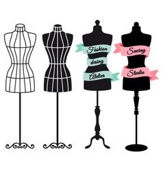 Fashion mannequins set vector image
