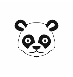 Head of panda icon simple style vector image vector image