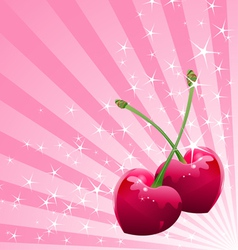 Love Cherry background vector image vector image