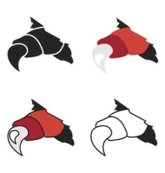 monsters or dragon red claws in crack vector image vector image