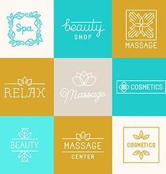 Spa and beauty logos vector image vector image