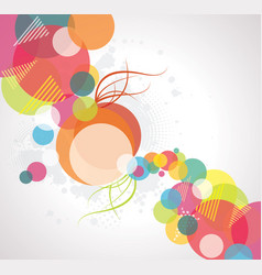 abstract background with transparent circles vector image