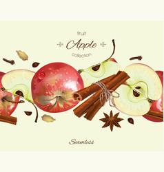 apple seamless border vector image