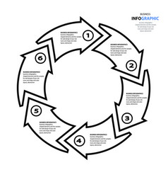 arrow infographics web design marketing icons vector image