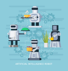artificial intelligence robot concept vector image