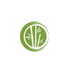 bamboo logo template icon vector image