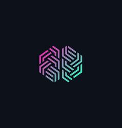brain gradient logo silhouette design vector image