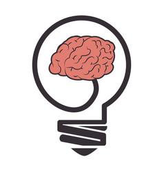 Brain storm with bulb vector