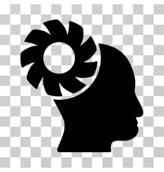 Brain Wheel Icon vector