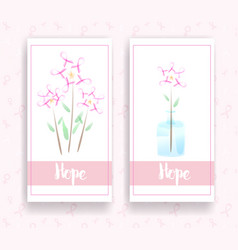 breast cancer awareness ribbon on banner vector image