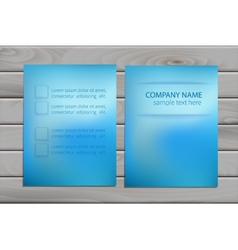 brochure design template for business vector image
