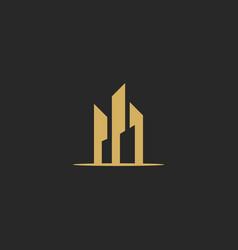 building cityscape design logo vector image