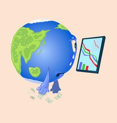Cartoon planet earth character vector