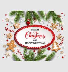 Christmas festive template vector