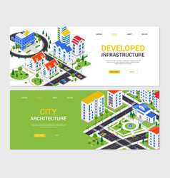 City infrastructure - set modern colorful vector