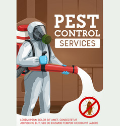 Cold fogging pest control method poster vector