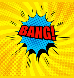 Comic bang wording template vector