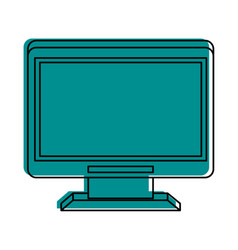 Computer monitor icon imag vector