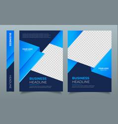 Corporate brochure flyer design template poster vector