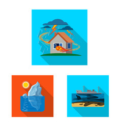 design of natural and disaster sign vector image