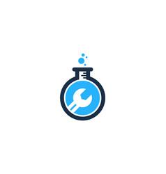 fix science lab logo icon design vector image