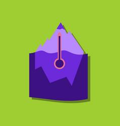 Flat icon design collection iceberg vector