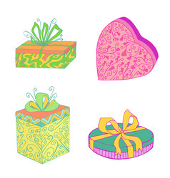 gift boxes collection for festive christmas vector image
