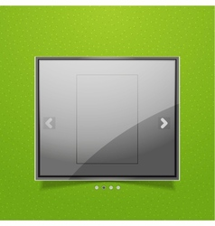 Glossy screen ad vector image