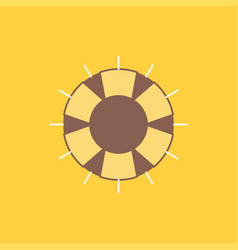 help lifebuoy lifesaver save support flat line vector image