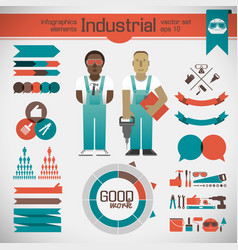 industrial infographic template vector image