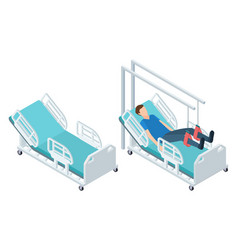 Isometric medical equipment physiotherapy vector