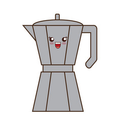 kawaii coffee icon vector image