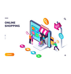 landing page template for online shopping vector image