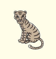 little tiger cartoon vector image