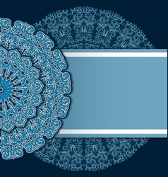 mandala decor for your design with abstract vector image