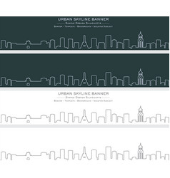 Manila single line skyline banner vector