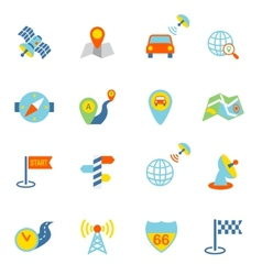 Mobile Navigation Icons Flat vector image