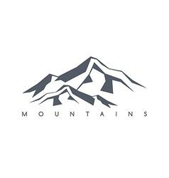 Mountain range theme vector