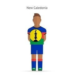 New caledonia football player soccer uniform vector
