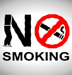 No smoking signboard vector