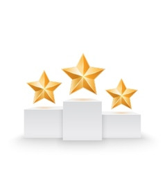 Pedestal with three stars vector