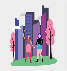 people celebration friendship day design vector image
