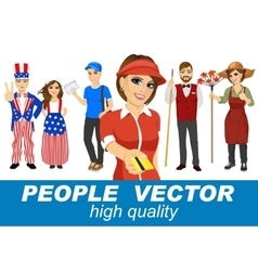 people with various characters vector image