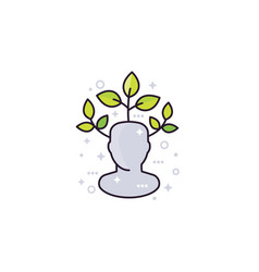 Personal growth icon vector