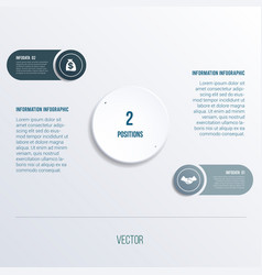 process chart template for presentation 2 option vector image