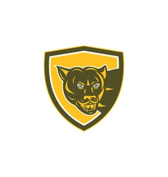 Puma Mountain Lion Head Prowl Shield Retro vector image