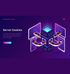 server cookies technology isometric concept vector image