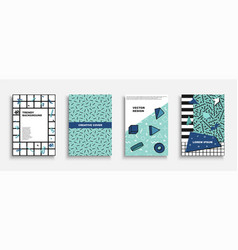 set color contemporary covers templates vector image