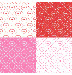 set seamless patterns with buttons vector image